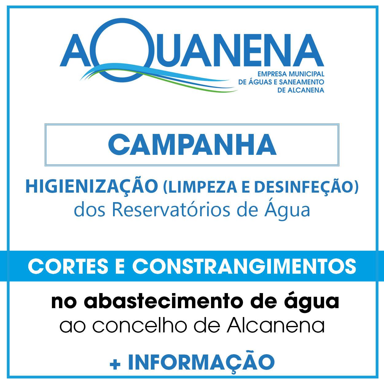 AQUANENA realiza trabalhos de higienização nos Reservatórios de Água