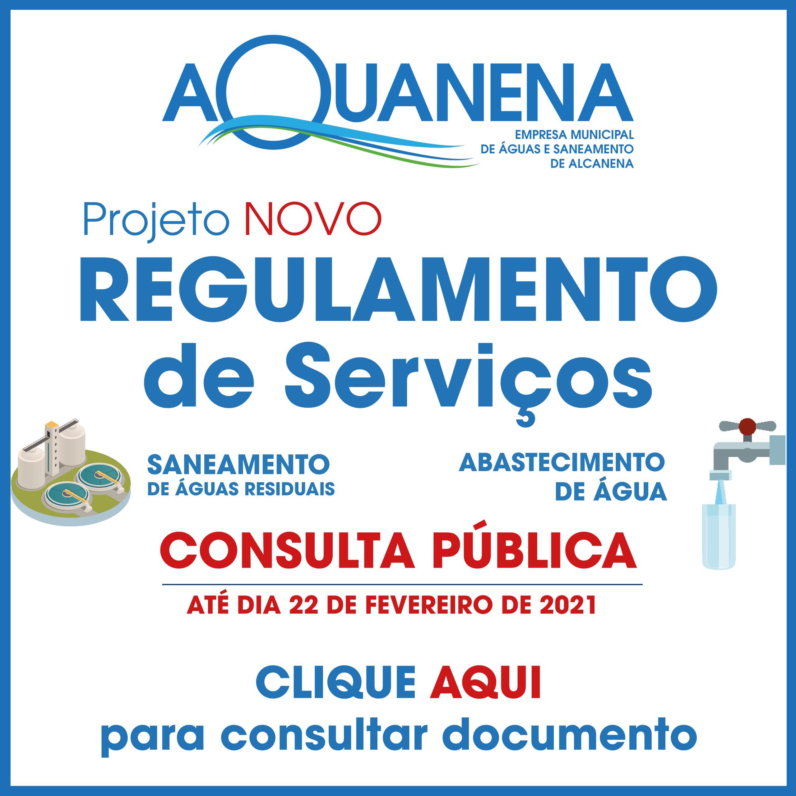 CONSULTA PÚBLICA – Projeto Regulamento de Serviços de Água e Saneamento de Alcanena